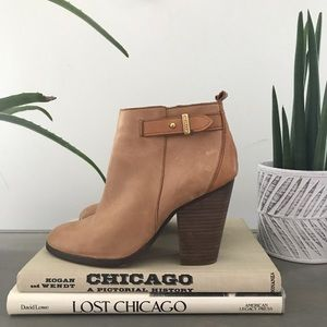 COACH Hewes Leather Ankle Boot